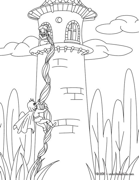 coloring page rapunzel tower tangled coloring pages getcoloringpages com