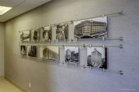 office wall decorations custom art display shows 100 years of companies history