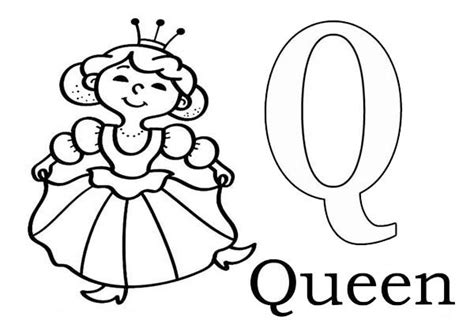 coloring pictures of letter q letter q coloring pages learn alphabet letter q for queen