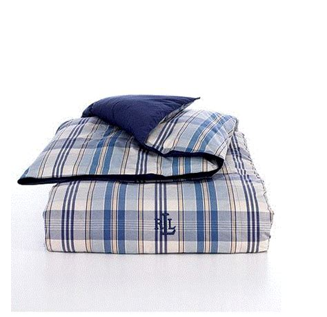 ralph lauren down comforter plaid ralph lauren sundeck blue plaid down alternative comforter