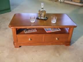 table basse salon merisier table basse en bois massif sur mesure pour un client de tarnos proche de bayonne ebenisterie