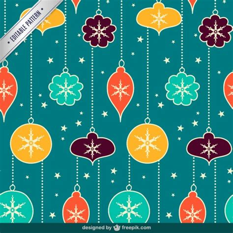retro christmas pattern vector free vintage christmas balls seamless pattern vector free