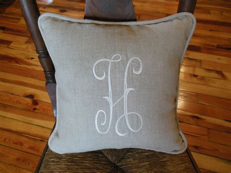 how to store pillows quot h quot monogram pillow