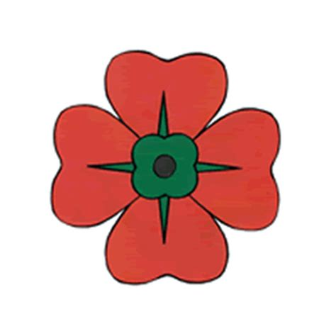 poppy template for children remembrance day poppy paper craft color template