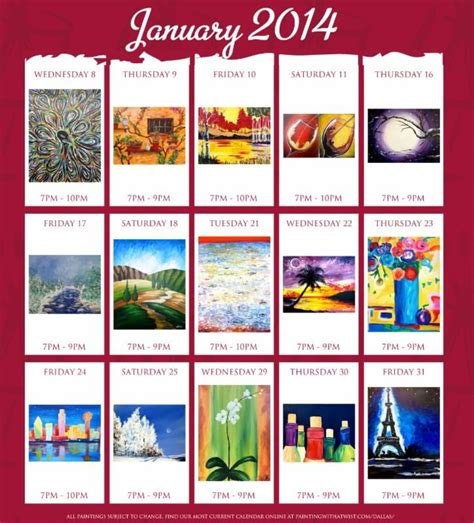 Painting With A Twist Calendar 39 Best Images About Painting With A Twist Ideas On