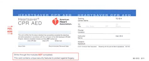 american association bls card template cpr safety basic support for healthcare