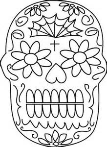 day of the dead skull template day of the dead coloring skull masks template