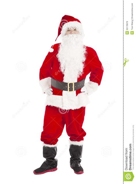 happy santa claus standing royalty free stock images