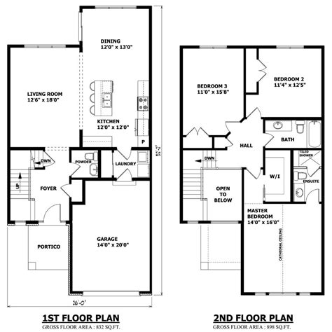 floor plan of a modern house minimalist two floor layout floor plans pinterest