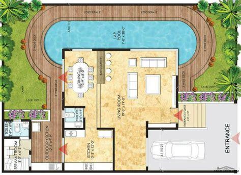Small Luxury House Plans مخطط 2 استراحه صغيرة المسبح و مطبخ خارجى 187 Arab Arch