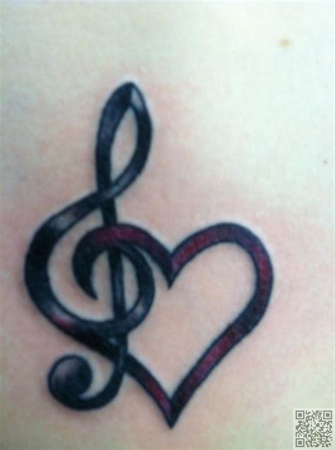 heart music note tattoo 1000 ideas about small tattoos on
