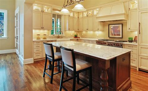 kitchen center island with amazing recessed lighting ideas