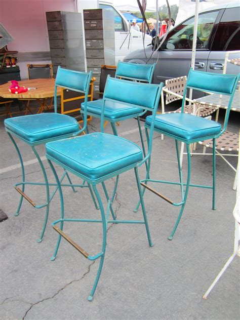 Teal Blue Bar Stools by Cococozy Flea Market Finds Which Would You Taken