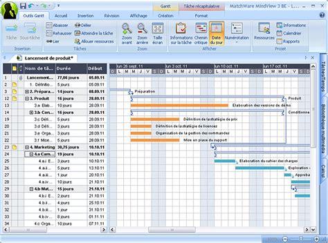 diagramme de gantt projet communication logiciel diagrammes de gantt matchware mindview