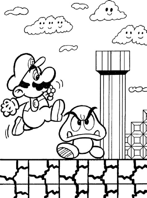 coloring pages free mario 9 free mario bros coloring pages for