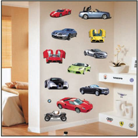 Cheap Good Quality Pvc Pvc Wall Stickers Car Model Cheap Nursery Wall Decals