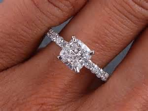 One Carat Cushion Cut Ring 1 28 Carats Ct Tw Cushion Cut Engagement Ring D