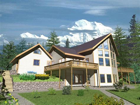 plateau hill a frame style home plan 088d 0330 house