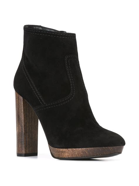 burberry high heel shoes burberry high heel ankle boots in black lyst