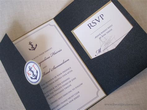 wedding invitations nautical nautical theme wedding invitation by theoriginalpear on etsy