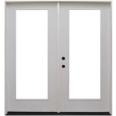 Inswing Patio Door Steves Sons 72 In X 80 In Primed White Fiberglass Prehung Right Inswing Lite Patio