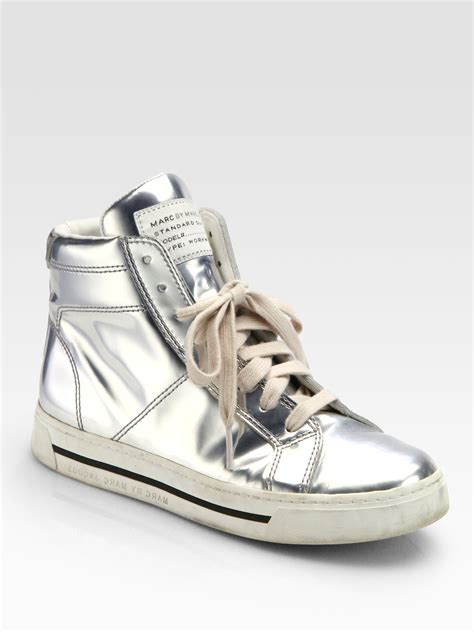 marc jacob sneakers marc by marc mirror leather high top sneakers in