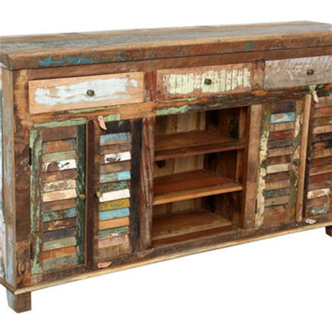 Handmade Indian Furniture - reclaimed indian colorful sideboard 2 from wanderloot