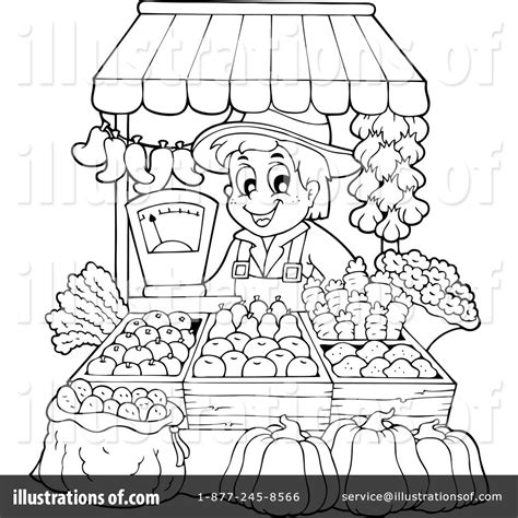 Coloring Pages Market Coloring Pages Farmer Clipart Market Coloring Pages