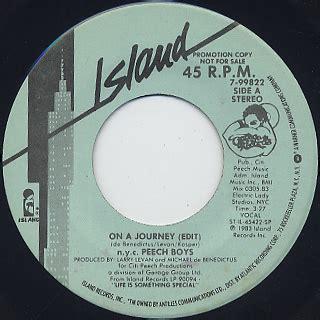 N Y Records N Y C Peech Boys On A Journey 7 7inch Island Records 中古レコード