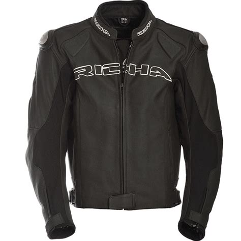 richa ghost leather jacket black free uk delivery