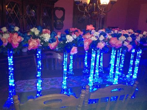 Winter Wedding Table Decorations Ideas - www claritycottage com custom lit centerpieces for any occasion clarity cottage featuring