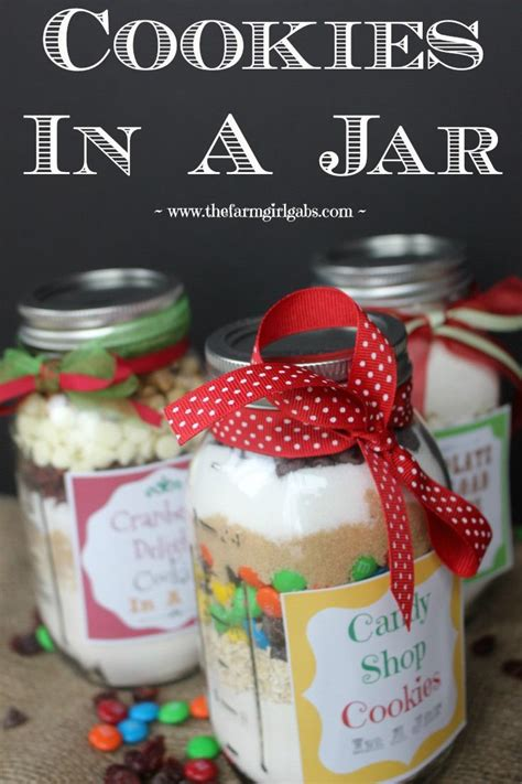 three simple cookies in a jar recipes these make perfect