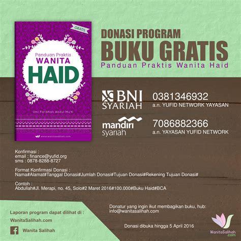 Buku Ibadah Praktis program buku gratis panduan praktis wanita haid wanita salihah