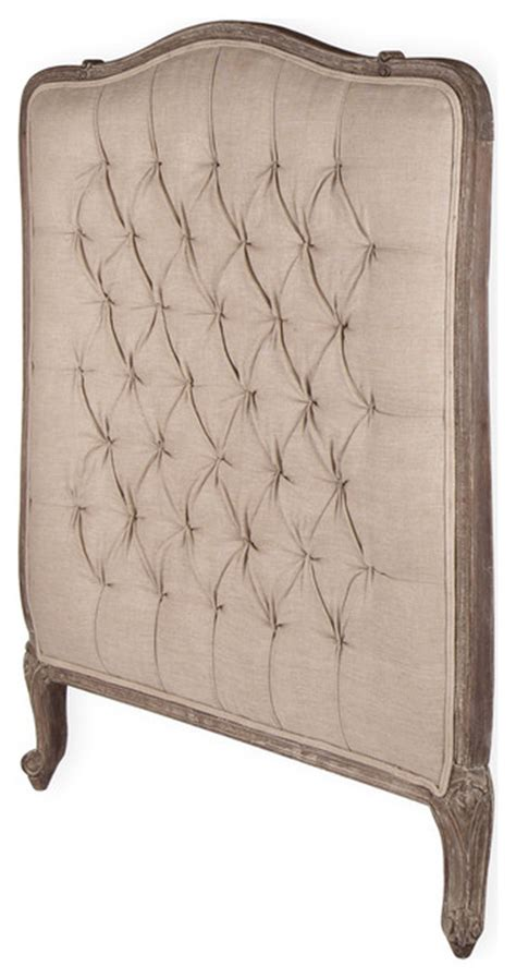 french tufted headboard lillian gray oak french country queen headboard