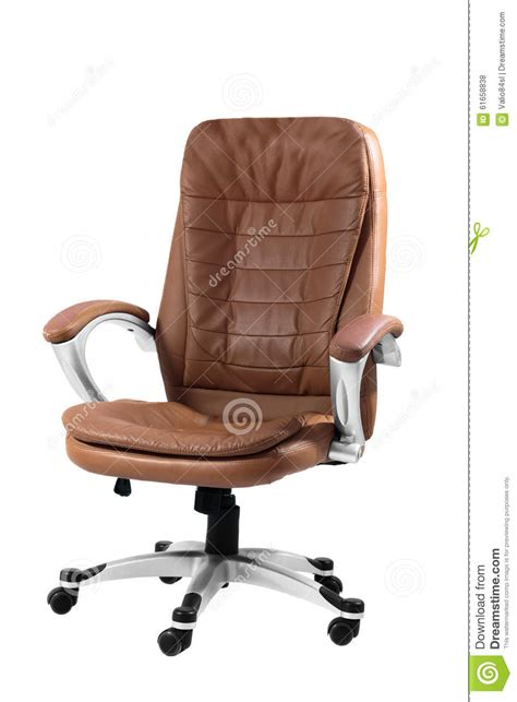 White Comfy Chair Comfortable Office Chair Isolated On White Stock Photo