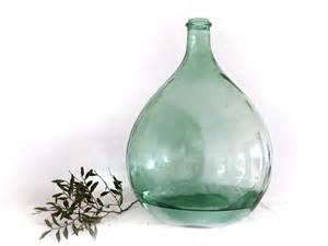 Apothecary Vases French Extra Large Green Glass Bottle Demijohnantique Carboy