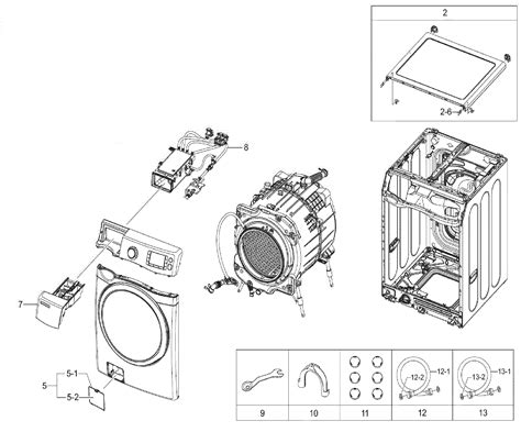 samsung front load washer parts diagram samsung washer washer asy parts model wf520abp xaa