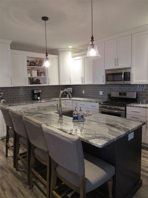 white shaker kitchen cabinets with grey island modern farmhouse kitchen remodel white shaker cabinets