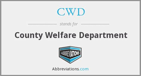 cwd county welfare department