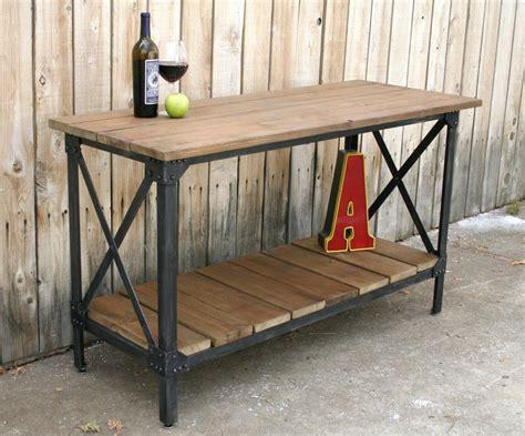 Handmade Industrial Furniture - handmade scrap metal and reclaimed wood industrial style