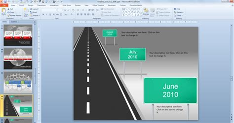 Awesome Timeline Charts Template For Powerpoint Presentations Free Roadmap Timeline Template