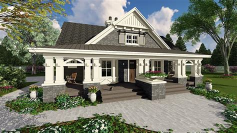 Farmhouse With Wrap Around Porch Plans by House Plan 42653 At Familyhomeplans Com