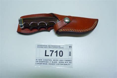 gerber skinning knife gerber model 400 presentation skinning knife with leather