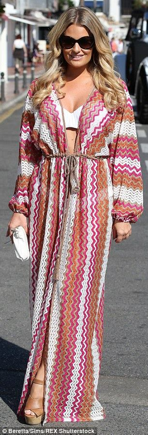 Maxy Dress Marbella Proo1 lewis leads glamorous co in printed maxi dress as she joins danielle armstrong and