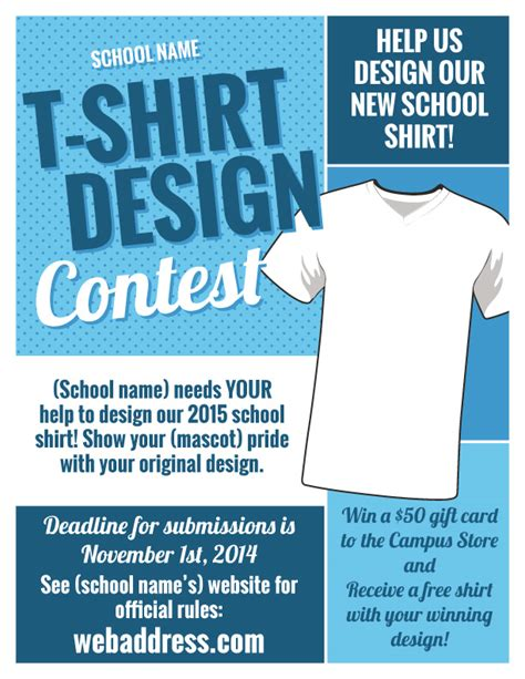 T Shirt Design Contest Maketing Flyers Inksoft Sales Competition Template