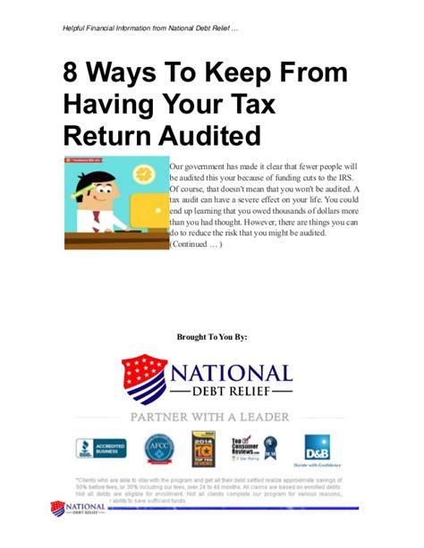 8 Ways To Hes A Keeper by 8 Ways To Keep From Your Tax Return Audited