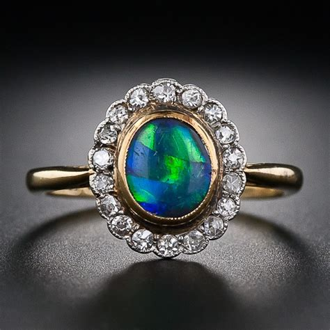 antique black opal and ring jewelry from the