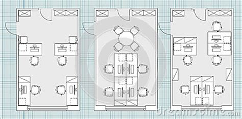 office floor plan icons standard office furniture symbols on floor plans stock vector image 66993897