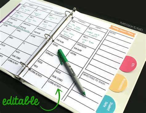 electronic lesson plan template free lesson plan book playdough to plato