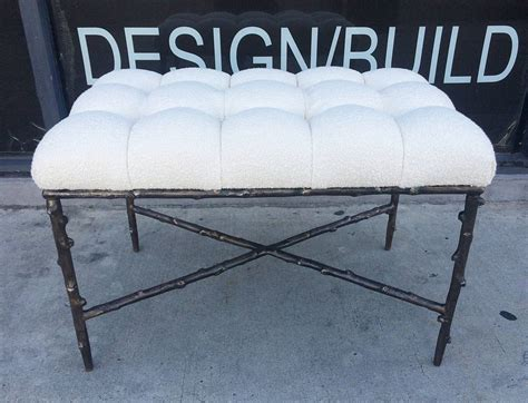 tufted bench seat solid bronze benches with tufted seats limited edition of 200 numbers 1 and 2 for